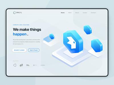 BoxFish_Web design app icon typography ux design ui web design tech web