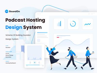 Soundon_Podcast Hosting_Design System