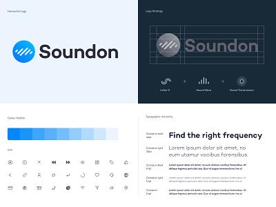 Soundon_Branding vector illustration logo guides guide podcasting podcast branding