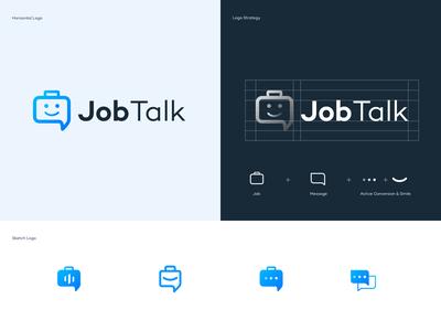 JobTalk Logo Design