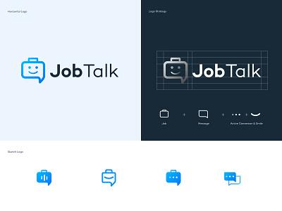 JobTalk Logo Design vector ui logo design talk job logo