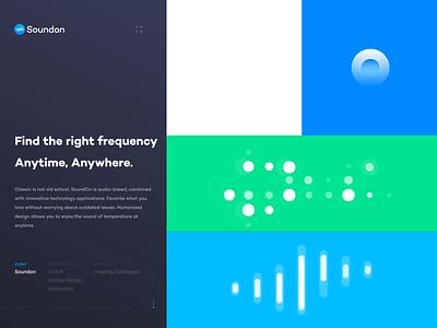 Soundon_Brand_pattern animation symbol brand identity branding simple brand animation soundon