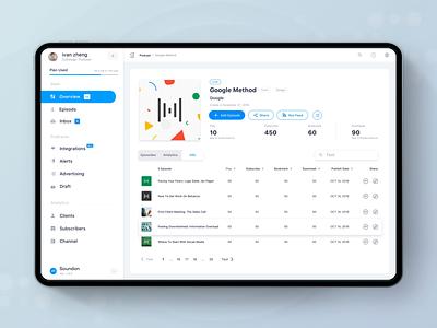 Soundon Hosting Dashboard Sidebar Animation podcast dashboard ui sidebar navigation nav sidebar menu animation sidebar dashboard