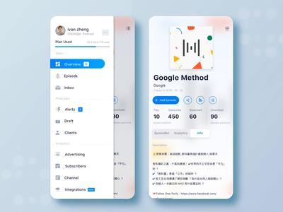 Soundon Hosting Dashboard mobile version