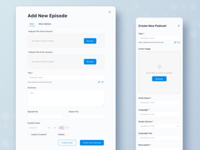 Soundon Hosting Dashboard Form Design