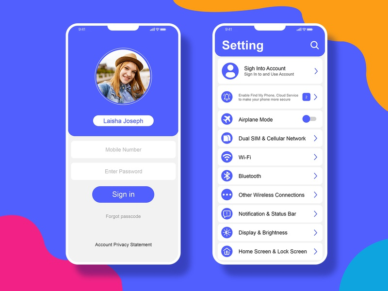 Daily Ui Ass 07 privacy settings web website ios type clean typography icon ux minimal ui design flat app