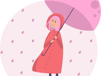 Woman with rain