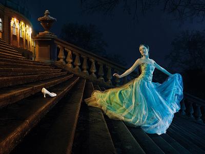 Cinderella campaign photomontage photo fotomontáž retušovat post produkce fotografie photoshop