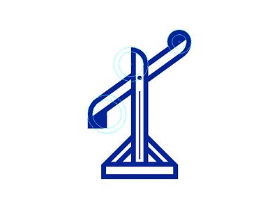 Trebuchet guides trebuchet blue vector icon crest charge