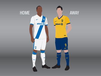 Football Kit Designs football soccer kit illustration vector blue white gold sport