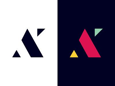 Self Branding Idea stencil monogram ak identity branding logo
