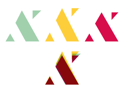 Tweaking and Re-drawing stencil monogram ak identity branding logo