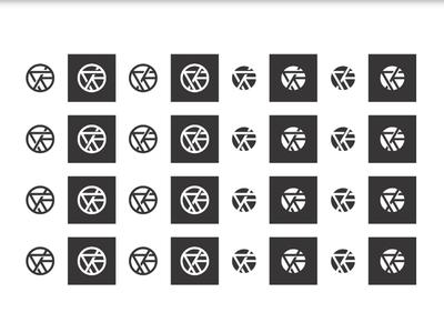 Repetition/Variation triangle circle ak monogram icon branding logo
