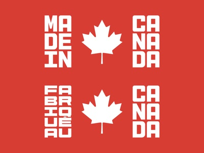 Made In Canada logo typography type flag canada