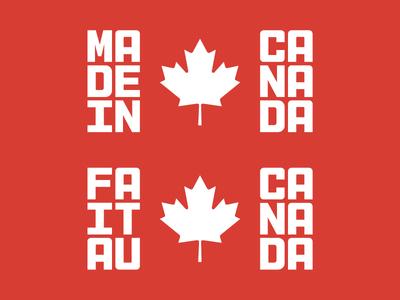 Fait au Canada logo typography type flag canada