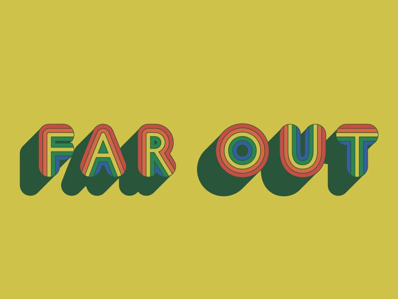 Far Out 70s far out typography retro vintage graphic design design