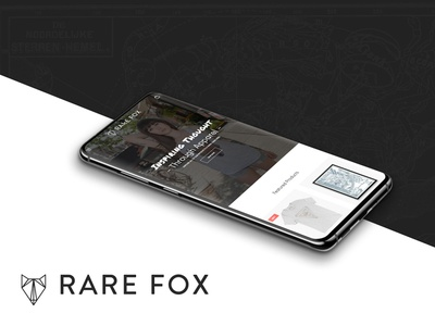 Rare Fox web ui ux web development web design logo branding design