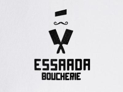 ESSAADA BOUCHERIE illustration typography vector design mark minimal logo logo deisgn branding