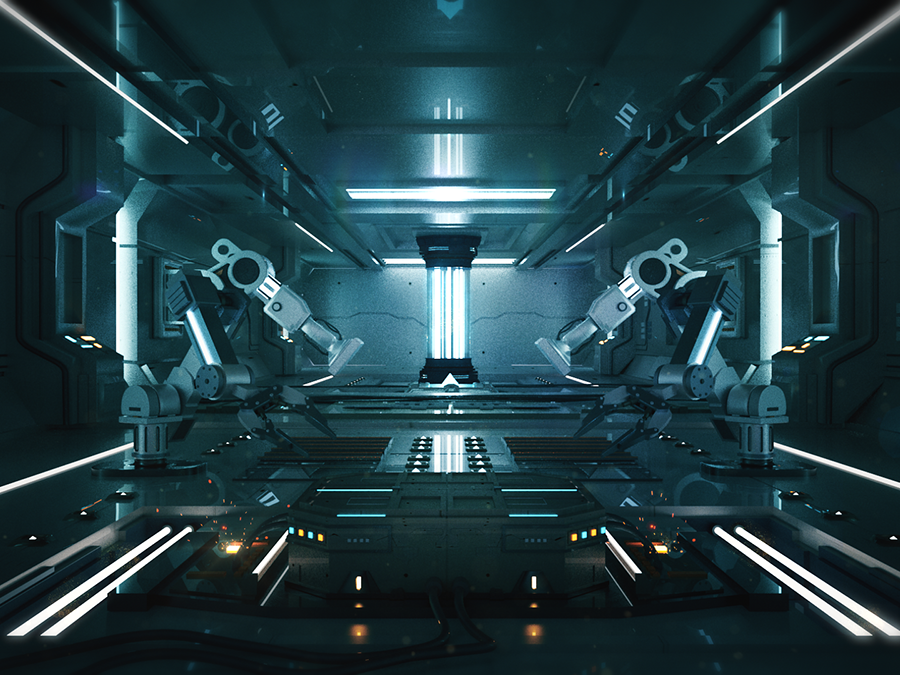 Sci-fi Laboratory by Charles Cheong | Dribbble | Dribbble