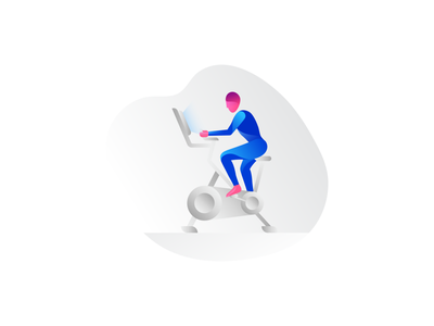 Spinning study human body inspiration gradient gym bike peloton spinning spin cycling cycle active fitness color illo form illustration