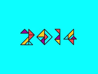 2014 Capstone Exhibition Logo Sketch geometric number triangle exhibition capstone