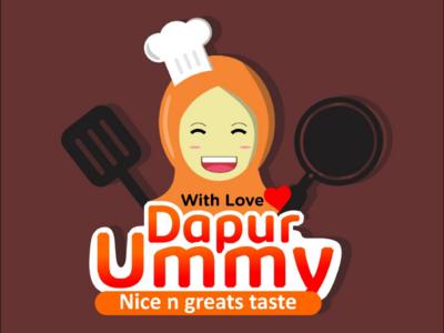 Dapur ummy kitchen logos branding food kitchen
