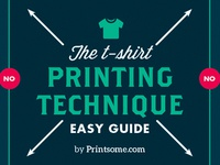 Tee printing infographic