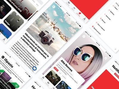 Flipboard redesign app animation prototyping app app concept design ux ui