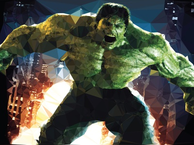 Hulk lowpoly low poly illustration vector design