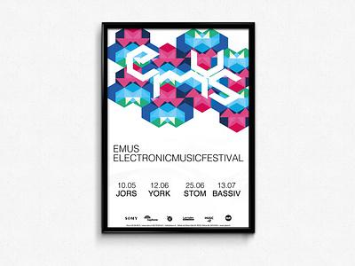 EMUS   Electronic MUSic Festival typography branding illustration vector design