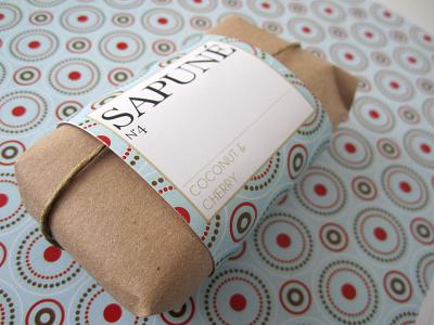Packaging // SAPUNÉ // Soap pattern logo branding vector design