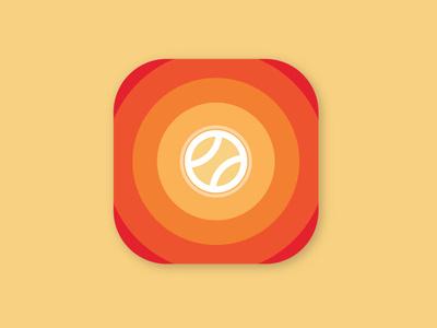 Tennis Point app icon branding flat app icon logo vector design