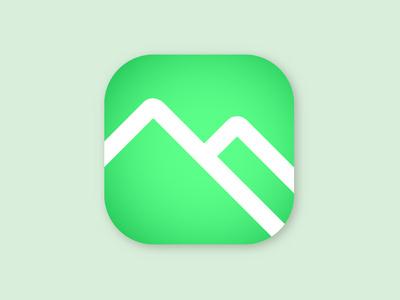 Alpine Passes app icon flat app icon logo illustration vector design