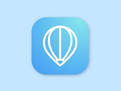 Hot Air app icon icon app logo vector design