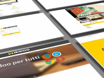 Wikidoo.it / e-learning responsive website website web ux ui flat app branding design