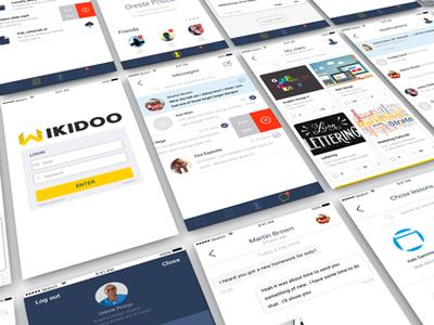 UI / iOS app design for e-learning flat ux ui app design