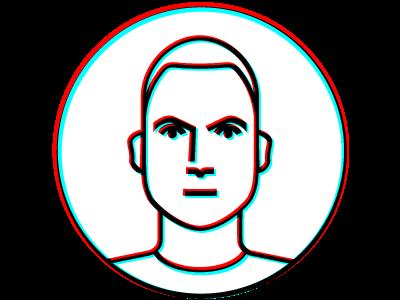 Portrait 3D 3d art 3d portrait illustration vector design