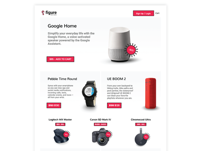 Figure. Daily Deals. Front Page ui design online store web store ui web homepage html website