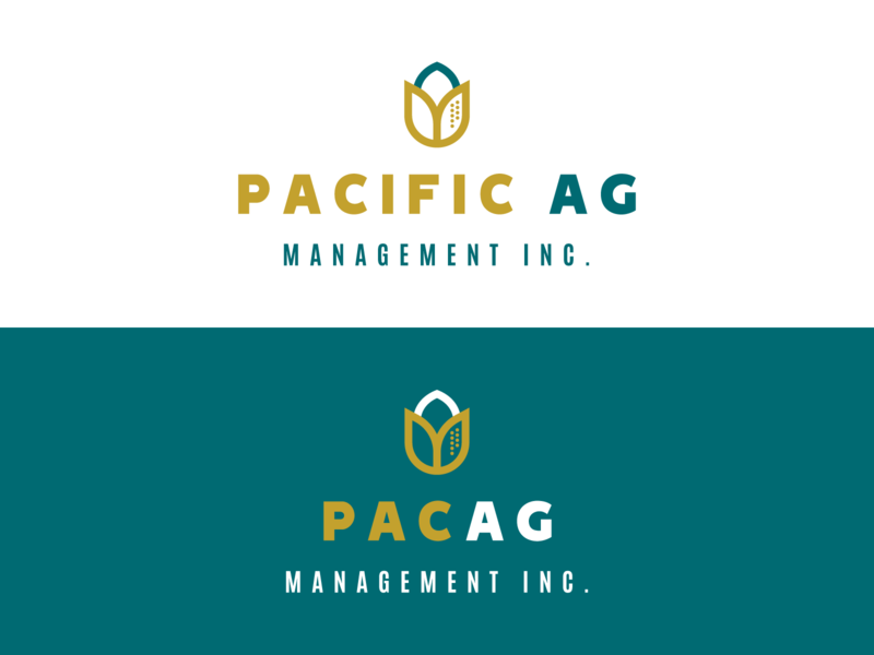 Pacific AG Minimal Rebrand typography flat rebranding pistachio design logo simple industrial farming agriculture bold icon bold bold font minimal rebrand