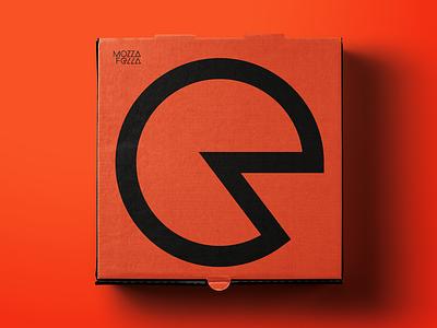 Mozzafella Pizza Box box design box pizza box pizza flat logo branding