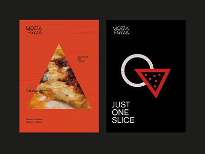 Mozzafella Print Collateral pizza logo pizza logo poster design poster print branding