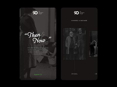 Then & Now... design branding photograhy typography charity ux ui mobile ui mobile website design website