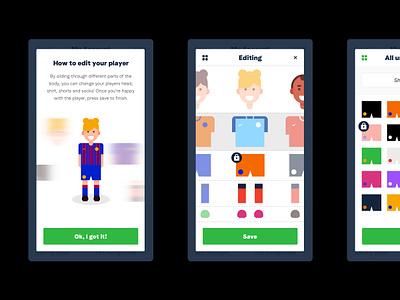 TopTekkers Avatar Creator design logo branding brand ui creator avatar soccer app soccer football app football