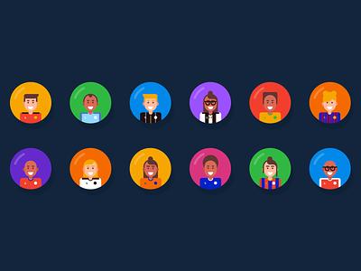 TopTekkers Badges design colour soccer app football app avatar badge illustration flat soccer football logo