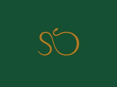 High Society Marque design flat elegant marque mark snake logo snake logo branding