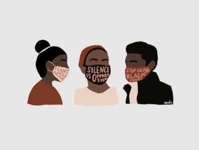 black lives matter minimal minimalismus illustrator lineart icon flat design illustration portrait minimalism vector abolish mask protest black lives matter blm