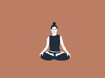 meditation motion after effects animation after effects animation 2d yoga meditation motiongraphics motion design gif animated animation vector illustration flat design