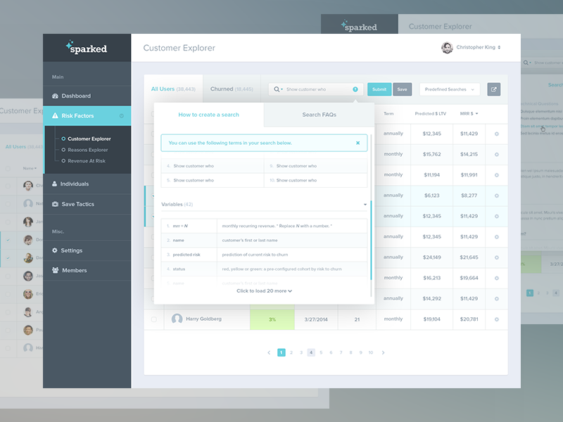 3 dashboard modal states walkthrough by justin kwak dribbble for Email table design