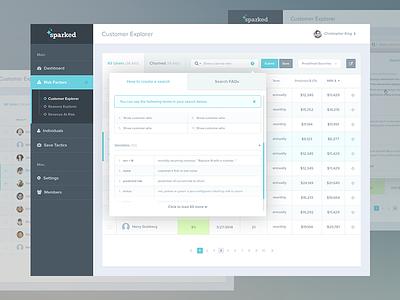 3 Dashboard Modal States Walkthrough saas dashboard chart data modal walkthrough table list customer ui stat retention