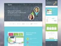 Sparked Home Page Website Design